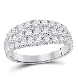 Diamond Anniversary Band Ring 1.00 Cttw 14kt White Gold