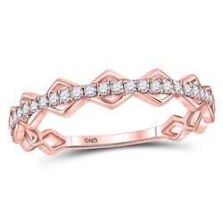 Diamond Link Stackable Band Ring 1/5 Cttw 10kt Rose Gold