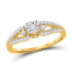 Diamond Solitaire Promise Bridal Ring 1/4 Cttw 10kt Yellow Gold