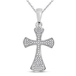 Diamond Cross Faith Pendant 1/4 Cttw 10kt White Gold
