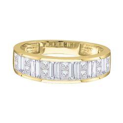 Baguette Channel-set Diamond Wedding Band 1/2 Cttw  14kt Yellow Gold
