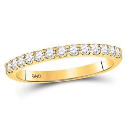Diamond Single Row Machine-set Wedding Band 1/3 Cttw 14kt White Gold
