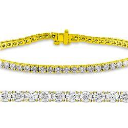 Natural 3ct VS-SI Diamond Tennis Bracelet 18K Yellow Gold - REF-236K3Y