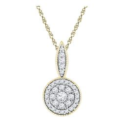 Diamond Cluster Pendant 1/3 Cttw 10kt Yellow Gold