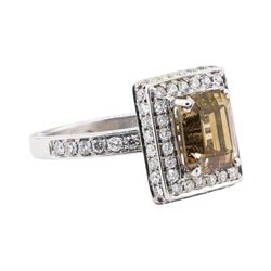 3.01 ctw Diamond Ring - 14KT White Gold