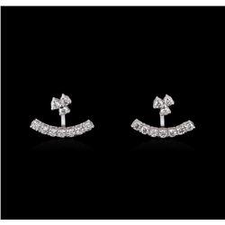 0.91 ctw Diamond Earrings - 14KT White Gold