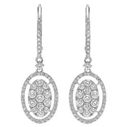14k Gold 1.28CTW Diamond Earrings, (SI2-SI3/H-I)