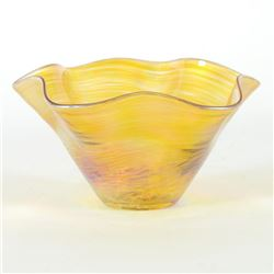 Mini Wave Bowl (Gold) by Glass Eye Studio