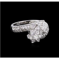 0.76 ctw Diamond Ring - 14KT White Gold