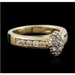 14KT Yellow Gold 0.95 ctw Diamond Ring
