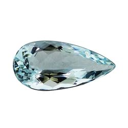 3.18 ct.Natural Pear Cut Aquamarine