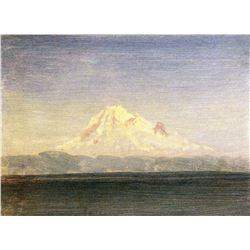 Snowy Mountains in the Pacific Northwest by Albert Bierstadt