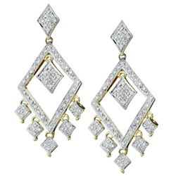 14k Yellow Gold 1.00CTW Diamond Earrings, (I1-I2/H-I)