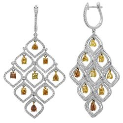 7.04CTW Diamond Earrings, (VS)