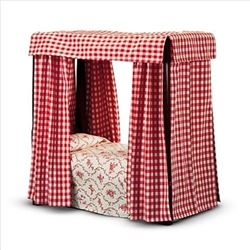 New In Box American Girl Felicity's Bed With Bedding and Drapes