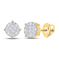 Diamond Fashion Cluster Earrings 2.00 Cttw 14kt Yellow Gold