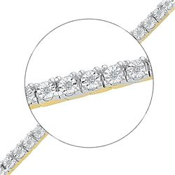 Diamond Miracle Fashion Bracelet 1/4 Cttw 10kt Yellow Gold