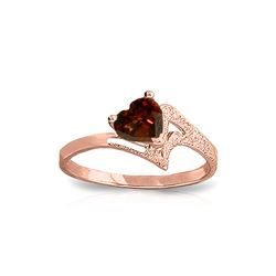 Genuine 0.90 ctw Garnet Ring 14KT Rose Gold - REF-36H3X