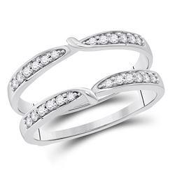 Diamond Wrap Ring Guard Enhancer 1/4 Cttw 14kt White Gold