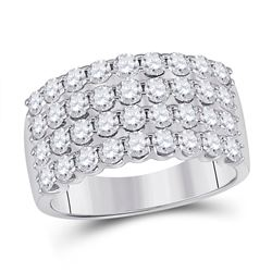 Diamond Anniversary Band Ring 2.00 Cttw 14kt White Gold