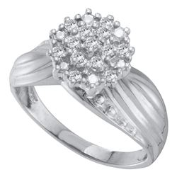 Diamond Cluster Ring 1/5 Cttw 10kt White Gold