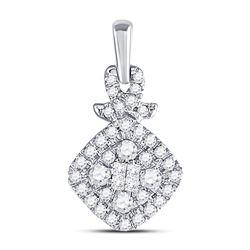 Diamond Cluster Pendant 3/8 Cttw 10kt White Gold