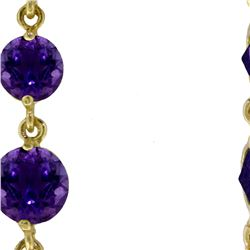 Genuine 8.7 ctw Amethyst Earrings 14KT White Gold - REF-53W6Y