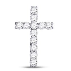 Diamond Religious Cross Pendant 1/5 Cttw 10kt White Gold