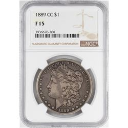 1890-CC $1 Morgan Silver Dollar Coin NGC F15