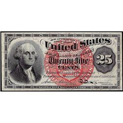 March 3, 1863 Fourth Issue Twenty-Five Cent Fractional Currency Note