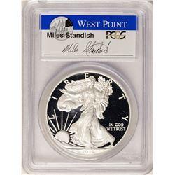 2015-W $1 Proof American Silver Eagle Coin PCGS PR70DCAM W/Miles Standish Signature
