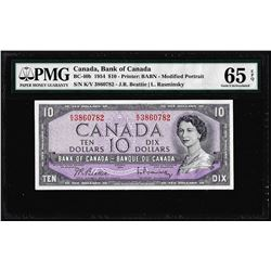 1954 $10 Bank of Canada Note BC-40B PMG Gem Uncirculated 65EPQ