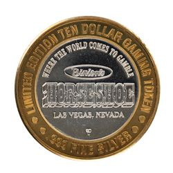 .999 Fine Silver Horseshoe Las Vegas, Nevada $10 Limited Edition Gaming Token