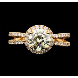 14KT Rose Gold 1.85 ctw Diamond Ring