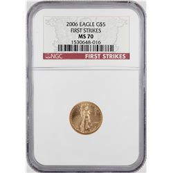 2006 $5 American Gold Eagle Coin NGC MS70 First Strikes