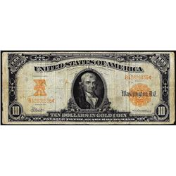 1907 $10 Gold Certificate Note