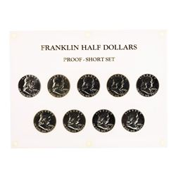 Set of 1955-1963 Proof Franklin Half Dollar Coins