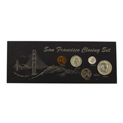 1954-1955 San Francisco Mint Closing Coin Set