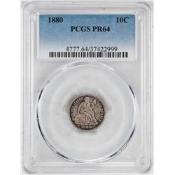 1880 Proof Seated Liberty Dime Coin PCGS PR64