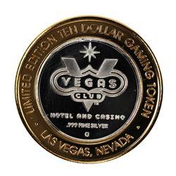 .999 Fine Silver Las Vegas Club $10 Limited Edition Gaming Token