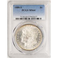 1880-S $1 Morgan Silver Dollar Coin PCGS MS64 Nice Toning