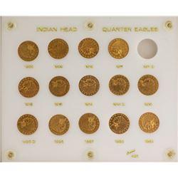 Set of 1909-1929 $2 1/2 Indian Head Quarter Eagle Gold Coins