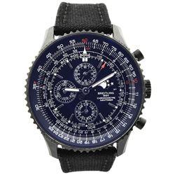 Breitling Mens Navitimer Stainless Steel 48mm Black Dial Watch