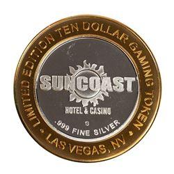 .999 Fine Silver Suncoast Las Vegas, Nevada $10 Limited Edition Gaming Token