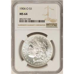 1904-O $1 Morgan Silver Dollar Coin NGC MS64
