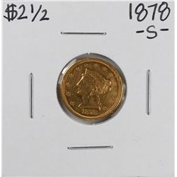 1878-S $2 1/2 Liberty Head Quarter Eagle Gold Coin