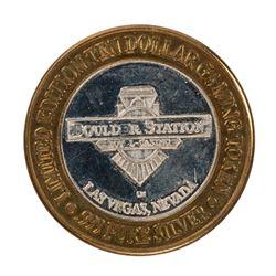 .999 Silver Boulder Station Hotel Casino Las Vegas, NV $10 Limited Casino Token
