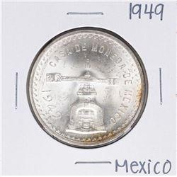 1949 Mexico Casa De Moneda Onza Silver Coin