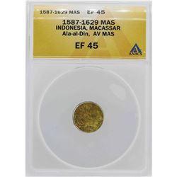 1587-1629 Indonisia Ala-al-Din Mas Gold Coin ANACS XF45 Details