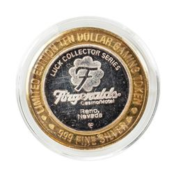 .999 Silver Fitzgeralds Casino & Hotel Reno, Nevada $10 Limited Edition Gaming Token